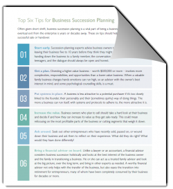 Top Six Tips For Business Succession Planning